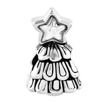 Charms Beads - SILVER PLATED GUIDING STAR CHRISTMAS CHARM BRACELET TREE BRACELETS alternate image 2.