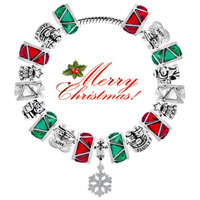 Charms Beads - SILVER PLATED GUIDING STAR CHRISTMAS CHARM BRACELET TREE BRACELETS alternate image 3.