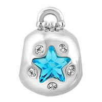 Charms Beads - AQUAMARINE BLUE CRYSTAL GUIDING STAR ORNAMENT LUCKY CHARM BRACELETS alternate image 2.