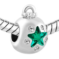 Charms Beads - EMERALD GREEN CRYSTAL GUIDING STAR ORNAMENT LUCKY CHARMS BRACELETS alternate image 1.