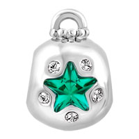 Charms Beads - EMERALD GREEN CRYSTAL GUIDING STAR ORNAMENT LUCKY CHARMS BRACELETS alternate image 2.