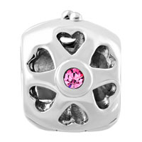 Charms Beads - SILVER PLATED LIVE LOVE LAUGH LOCKET CHARM BRACELET CRYSTAL CHARMS alternate image 2.