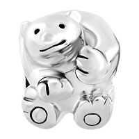 Charms Beads - SILVER SILVER TONE CUTE POLAR ICE BEAR ANIMAL CHARMS FOR BRACELETS alternate image 2.