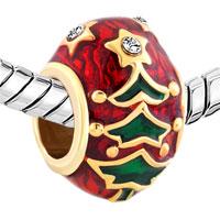 Charms Beads - GOLD CHRISTMAS CHARM BRACELET TREE EASTER FABERGE EGG BRACELETS alternate image 1.