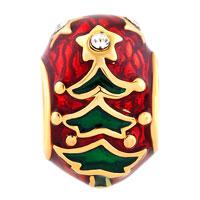 Charms Beads - GOLD CHRISTMAS CHARM BRACELET TREE EASTER FABERGE EGG BRACELETS alternate image 2.