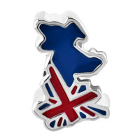 Charms Beads - JACK PATRIOTIC PROUD TO BE BRITISH FLAG COUNTRY OF UK MAP LUCKY BEAD alternate image 2.