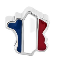 Charms Beads - PATRIOTIC PROUD TO BE FRANCE FLAG COUNTRY OF FRANCE MAP LUCKY CHARM alternate image 2.