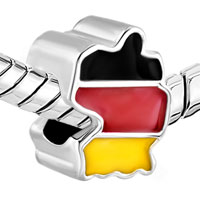 Charms Beads - PATRIOTIC PROUD TO BE GERMAN FLAG COUNTRY OF GERMAN MAP LUCKY CHARM alternate image 1.