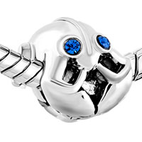 Charms Beads - BIRTHS BLUE CRYSTAL EYES LOBSTER NAUTICAL ANIMAL CHARM FOR BRACELETS alternate image 1.