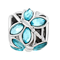 Charms Beads - PUGSTER?  AQUAMARINE BLUE ELEMENTS CRYSTAL FOR BEADS CHARMS BRACELETS FIT ALL BRANDS alternate image 2.