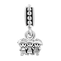Charms Beads - THREE GIRL SISTERS FRIENDS DANGLE SPACER BEADS CHARMS BRACELETS FIT ALL BRANDS alternate image 2.