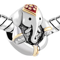 Charms Beads - ANTIQUE' D THAILAND ELEPHANT ANIMAL BEADS CHARMS BRACELETS FIT ALL BRANDS alternate image 1.