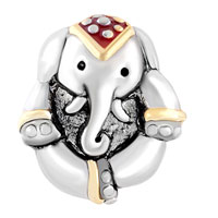 Charms Beads - ANTIQUE' D THAILAND ELEPHANT ANIMAL BEADS CHARMS BRACELETS FIT ALL BRANDS alternate image 2.