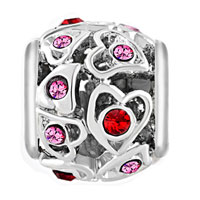 New Arrivals - BIRTHSTONE CHARMS FILIGREE OPEN HEART LOVE ROSE PINK ELEMENTS CRYSTAL BEAD alternate image 2.