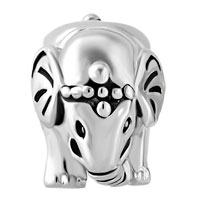 Charms Beads - ANTIQUE'D SILVER THAILAND ELEPHANT ANIMAL CHARMS FOR BRACELETS alternate image 2.
