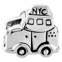 Charms Beads - SILVER PLATED NEW YORK CAR TAXI TRAVEL BEADS CHARMS FOR BRACELETS alternate image 2.