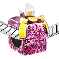 Charms Beads - ROSE PINK CRYSTAL PERFUME BOTTLE FASHION AMERICAN GIRL CHARM BEAD alternate image 1.