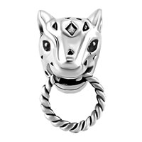 Charms Beads - SILVER PLATED EMERALD GREEN CZ EYE PANTHER ANIMAL PUMA COUGAR BEADS CHARMS BRACELETS FIT ALL BRANDS alternate image 2.