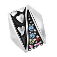 Charms Beads - MULTICOLOR SWAROVSKI ELEMENTS CRYSTAL HEART MIRAGE BEADS CHARMS BRACELETS FIT ALL BRANDS alternate image 2.