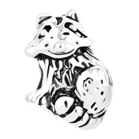 Charms Beads - CUTE RACCOON ANIMAL FIT ALL BRANDS BEADS CHARMS BRACELETS alternate image 2.