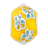 New Arrivals - EASTER FLOWER YELLOW FABERGE EGG CRYSTAL BEADS CHARMS BRACELETS FIT ALL BRANDS alternate image 2.