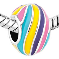 Charms Beads - HOT SILVER/ P EASTER COLORFUL FABERGE EGG BEADS CHARMS BRACELETS FIT ALL BRANDS alternate image 1.