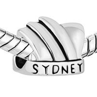 Charms Beads - NEW AUSTRALIA SYDNEY OPERA HOUSE SILVER/ P BEADS CHARMS BRACELETS FIT ALL BRANDS alternate image 1.
