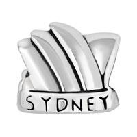 Charms Beads - NEW AUSTRALIA SYDNEY OPERA HOUSE SILVER/ P BEADS CHARMS BRACELETS FIT ALL BRANDS alternate image 2.