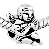New Arrivals - SILVER/ P MANDOLIN MUSIC ANGEL LOVER FIT BEADS CHARMS BRACELETS ALL BRANDS alternate image 1.