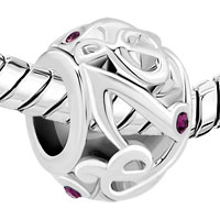 New Arrivals - MUSIC NOTES WITH PURPLE CRYSTAL CZ FOR BEADS CHARMS BRACELETS FIT ALL BRANDS alternate image 1.