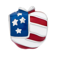 Charms Beads - AMERICA USA FLAG HEART LOVE CHARMS FOR BRACELETS alternate image 2.