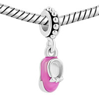 New Arrivals - FASHION PINK SHOES CRYSTAL DANGLE FOR BEADS CHARMS BRACELETS FIT ALL BRANDS alternate image 1.