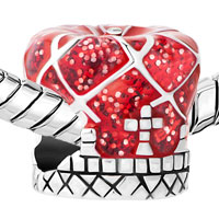 Charms Beads - RED ROYAL CROWN SILVER PLATED FOR BEADS CHARMS BRACELETS FIT ALL BRANDS alternate image 1.