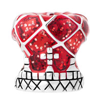 Charms Beads - RED ROYAL CROWN SILVER PLATED FOR BEADS CHARMS BRACELETS FIT ALL BRANDS alternate image 2.