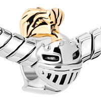 Charms Beads - HOT KNIGHT HELMET TWO TONES FOR BEADS CHARMS BRACELETS FIT ALL BRANDS alternate image 1.