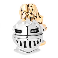 Charms Beads - HOT KNIGHT HELMET TWO TONES FOR BEADS CHARMS BRACELETS FIT ALL BRANDS alternate image 2.