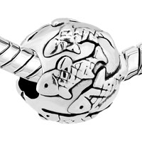Charms Beads - FISH PAVE SILVER PLATED FOR BEADS CHARMS BRACELETS FIT ALL BRANDS alternate image 1.