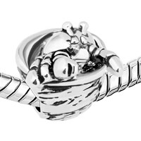Charms Beads - NEW SILVER PLATED HERMIT CRABS ANIMAL FOR BEADS CHARMS BRACELETS FIT ALL BRANDS alternate image 1.