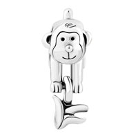 Charms Beads - CUTE MONKEY WITH BANANA SILVER FOR BEADS CHARMS BRACELETS FIT ALL BRANDS alternate image 2.