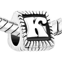 Charms Beads - ANTIQUE INITIAL LETTER ALPHABET K FOR BEADS CHARMS BRACELETS FIT ALL BRANDS alternate image 1.