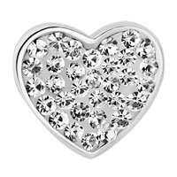 Charms Beads - MOM CLEAR WHITE CRYSTAL HEART I LOVE YOU RHINESTONE BEADS CHARMS BRACELETS FIT ALL BRANDS alternate image 2.