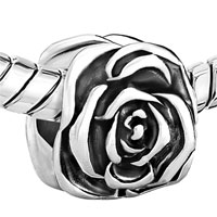 Charms Beads - BEAUTIFUL ROSE FLOWER FIT ALL BRANDS BEADS CHARMS BRACELETS alternate image 1.
