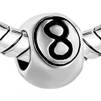 Charms Beads - ENGRAVED LETTER 8 EUROPEAN BEAD CHARMS INFANT CHARMS BRACELETS alternate image 1.
