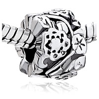 Charms Beads - PUGSTER?  BEAUTIFUL FLORAL FIT ALL BRANDS BEADS CHARMS BRACELETS alternate image 1.