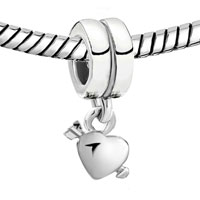Charms Beads - SILVER PLATED LOVE ARROW HEART CHARM BRACELET DANGLE EUROPEAN BEAD alternate image 1.