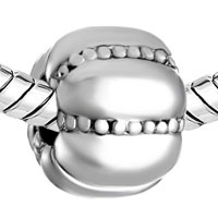 Charms Beads - SILVER PLATED JACKOLANTERN HALLOWEEN PUMPKIN SHAPE SILVER TONE alternate image 1.