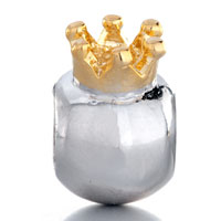 Charms Beads - SILVER PLATED LITTLE CUTE CROWN EUROPEAN BEAD CHARMS BRACELETS alternate image 2.