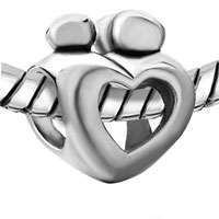 Charms Beads - MOTHER CHILD OPEN HEART LOVE BEADCHARMS BEADS CHARMS BRACELETS FIT ALL BRANDS alternate image 1.