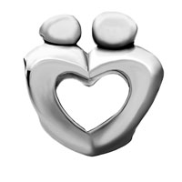 Charms Beads - MOTHER CHILD OPEN HEART LOVE BEADCHARMS BEADS CHARMS BRACELETS FIT ALL BRANDS alternate image 2.