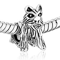 Sterling Silver Jewelry - STERLING SILVER LONG HAIR DOG FIT BEADS CHARMS BRACELETS ALL BRANDS alternate image 1.